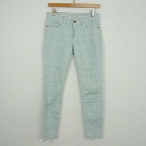 Pilcro Letterpress Mid Rise Skinny Jeans Striped